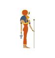 hathor ancient goddess of love symbol of vector image