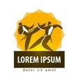 Karate logo design template combat sport vector image