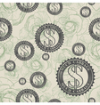 Pattern with symbols of money vector image