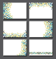 Set of business cards Pixel art vector image
