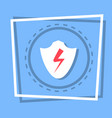shield icon data protection web button vector image