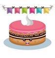 sweet birthday cake card vector image