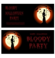 Halloween banner Death and scary scythe vector image