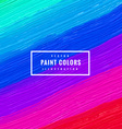 multi color paint strokes background vector image