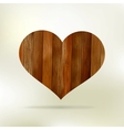 Wooden structure in the form of heart EPS 8 vector image vector image