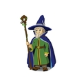 Gloomy Cartoon Wizard vector image
