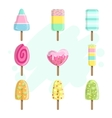Ice Creams On Stick Collection vector image