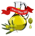 colorful of olive oil 1 vector image