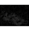 Flower design abstract background black vector image