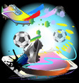 kick off football action with phon technology vector image