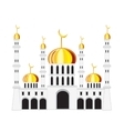 Mosque on white background vector image