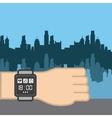 Sport smart watch icon vector image
