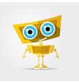orange Cartoon Character Cute vector image