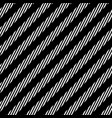 diagonal lines seamless pattern black and white vector image vector image