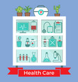 medical decorative icons set vector image