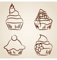 Cupcake sketches vector image