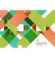 Colorful geometrical shapes abstract lines vector image