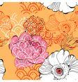 vintage flowers vector image vector image
