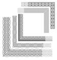 borders set 380 vector image