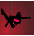 Pole dancer sexy silhouette The vector image