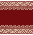 Dark red background with two lacy borders vector image