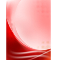 abstract red flowing background vector image vector image
