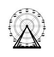 Ferris wheel Carnival vector image