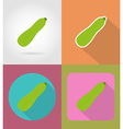 vegetables flat icons 13 vector image