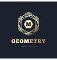 geometric flower style royal monogram logo vector image