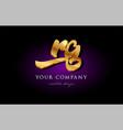 rg r g 3d gold golden alphabet letter metal logo vector image