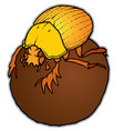 scarab on a ball vector image