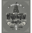 Halloween poster or greeting card vector image
