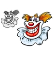 Old circus clown vector image