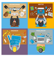 Professions Top View 2x2 Design Concept vector image