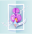 card for 8 march womens day vector image