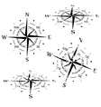 Grunge compass set vector image