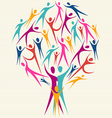 Human family colorful tree vector image vector image