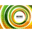 Orange and green swirl shapes modern background vector image vector image