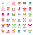 biggest collection of logos butterflies vector image