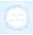 Wave of snowflakes vector image vector image