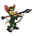 Chihuahua with the rocket launcher vector image