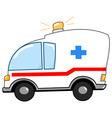 ambulance cartoon vector image vector image
