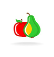 Apple and pear logo vector image