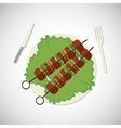Meat icon design vector image