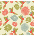 Retro Parrot Pattern vector image