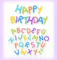 happy birthday spelled out in twisted balloons vector image