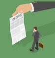 job offer flat isometric concept vector image