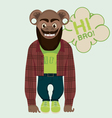 monkey hipster vector image