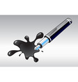pen and blot vector image