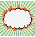 Pop art retro cloud vector image